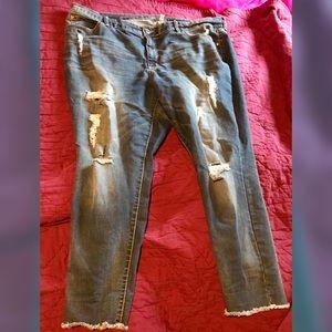 Distressed Jennifer Lopez Jeans, Size 20